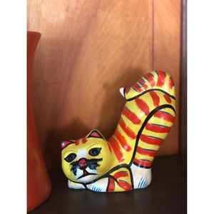 Hand painted vintage cat
